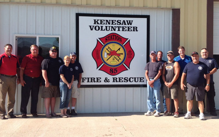 kenesaw fire department new sign