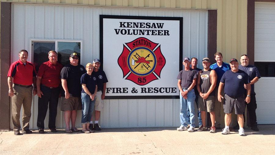 kenesaw volunteer fire department members