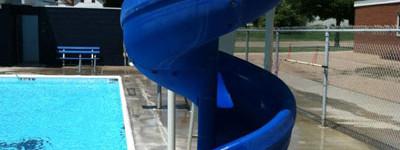 kenesaw swimming pool slide
